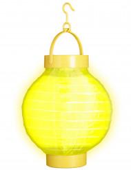 Gele lichtgevende lantaarn 15 cm