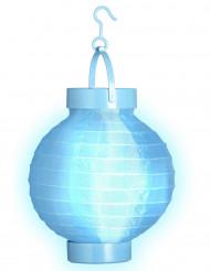 Lichtgevende blauwe lantaarn 15 cm