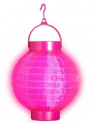 Lichtgevende roze lantaarn 15 cm
