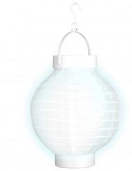 Wit lichtgevende lantaarn 15 cm
