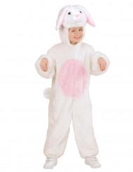 Wit met roze konijnenkostuum voor kinderen