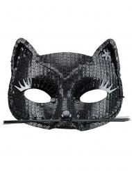 Zwart poesje masker voor volwassenen