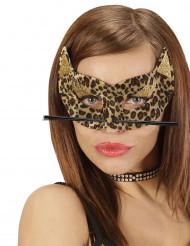 Masker met luipaard print voor vrouwen