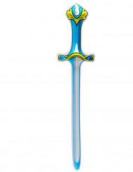 Blauw opblaasbaar zwaard 77 cm