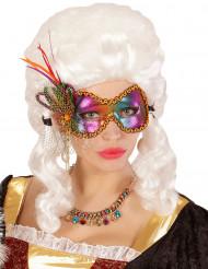 Veelkleurig vlinder masker voor dames