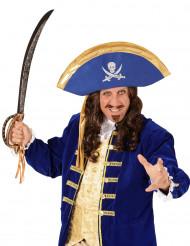 Blauw piraten hoed voor volwassenen