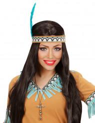 Indiaanse goudkleurige totem ketting voor volwassenen