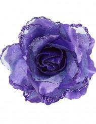 Paarse roos voor haren voor vrouwen