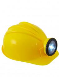Geel bouwvakker helm voor volwassenen