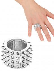 Zilverkleurige punk ring voor vrouwen