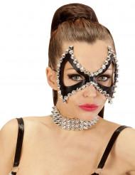 Zwart punk halfmasker