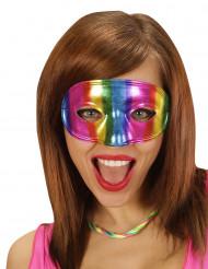 Metaalachtig meerkleurig masker