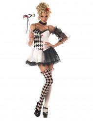 Sexy Harlekijn kostuum voor dames