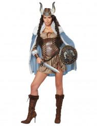 Sexy viking kostuum met cape voor dames
