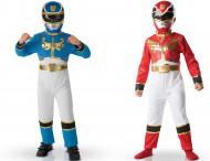 2 Power Rangers ™ kostuums kinderen rood en blauw
