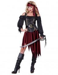 Sexy fluweelachtige piraten outfit voor vrouwen