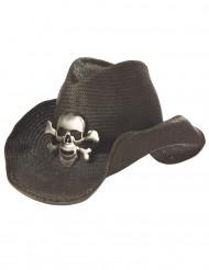 Cowboy hoed met doodskop voor volwassenen