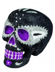 Glitter skeletten hoofd decoratie Dia de los Muertos