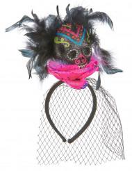 Gekleurd Dia de los Muertos haarband