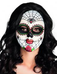 Gekleurd skeletten masker voor volwassenen