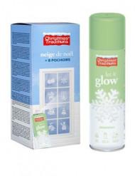 Lichtgevende sneeuw spray met sjablonen