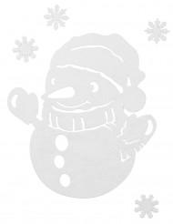Sneeuwpop en sneeuwvlok kerst versiering