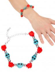 Turquoise doodskoppen armband
