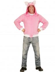 Vest met capuchon varken voor volwassenen