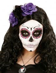 Haarband met paarse en zwarte bloemen voor vrouwen