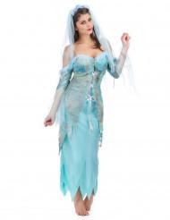 Turquoise zeemeermin kostuum voor vrouwen