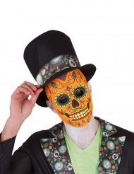 Luxe Día de Los Muertos masker voor mannen