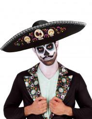 Día de los Muertos sombrero voor volwassenen