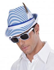 Wit met blauwe bierfeest bril voor volwassenen
