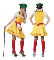 Geel Tiroler kostuum voor vrouwen