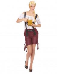 Tiroler kostuum bordeaux rood voor vrouwen