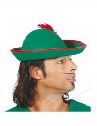 Groene boswachter hoed met veer voor volwassenen