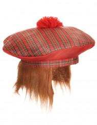 Schotse baret met haren voor volwassenen