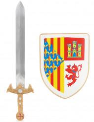 Ridderset schild en zwaard voor kinderen