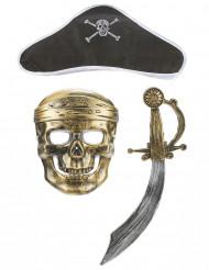 Piratenset - Sabel hoed en masker voor kinderen