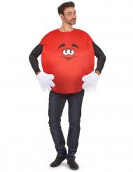 Rood snoep kostuum voor volwassenen