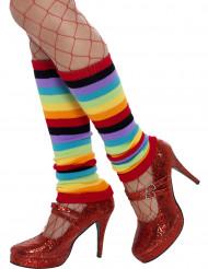 Regenboog beenwarmers voor vrouwen