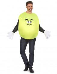 Geel snoepje kostuum voor volwassenen