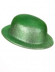 Groene bolhoed met glitters voor volwassenen St Patrick