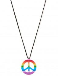 Veelkleurig hippie halsketting voor volwassenen