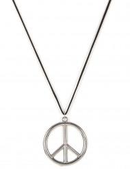 Zilverkleurige hippie ketting