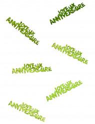 Joyeux anniversaire confetti groen