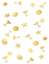 Goudkleurige confetti trio