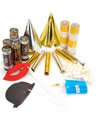 Goud en zilver feestpakket 6 personen met photobooth