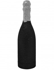 Zwart champagnefles confetti kanon