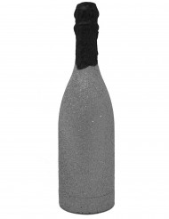 Zilverkleurig champagnefles confetti kanon